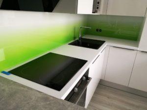 Obkladové sklo - grafosklo - zeleno/bílé